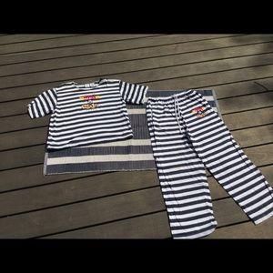 Vintage Mickey Mouse Cruise pajama set
